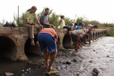 Peace Corps volunteers have a reputation for being dirty; it's kind of a lose-lose situation, because if we try to wash the dirt off in a river, we still look grungy